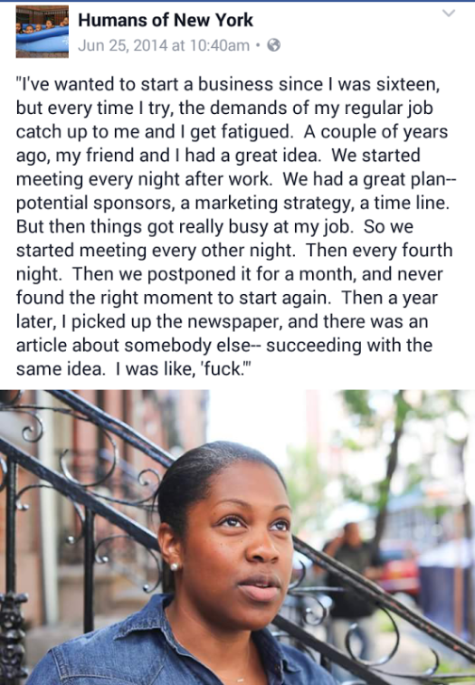Female Entreperneur loses business opportunity HONY image